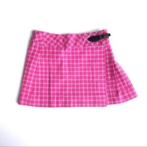 LILLY PULITZER Vintage Pink Plaid Skirt Jj7